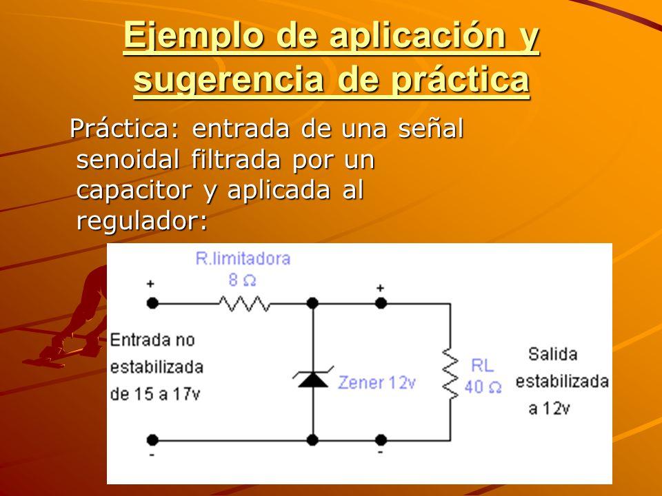 Ejemplo de aplicación y sugerencia de práctica