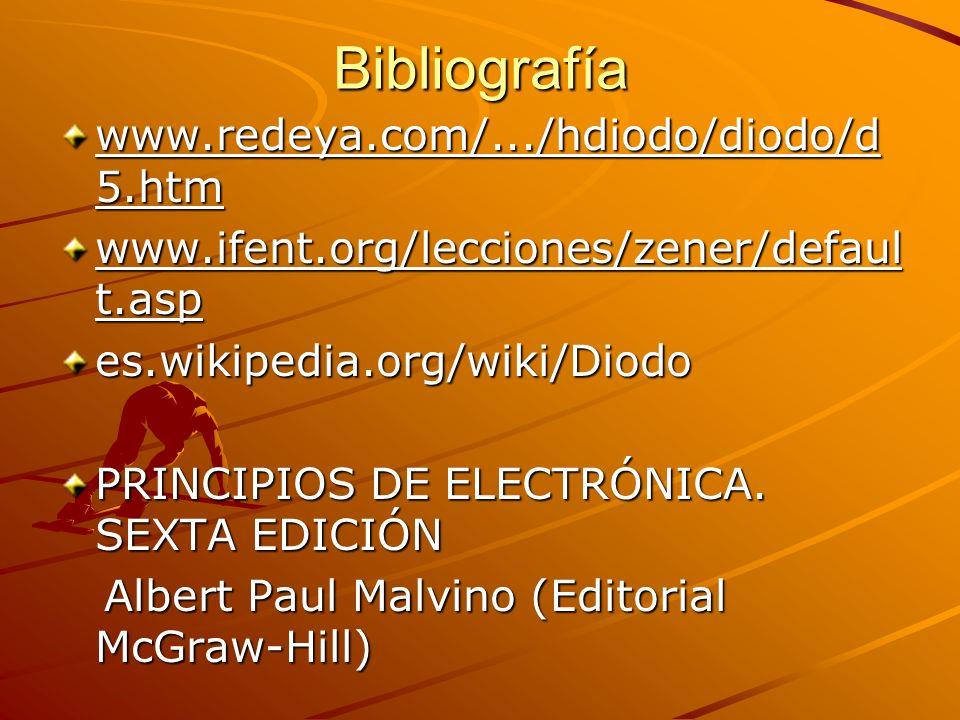Bibliografía www.redeya.com/.../hdiodo/diodo/d5.htm