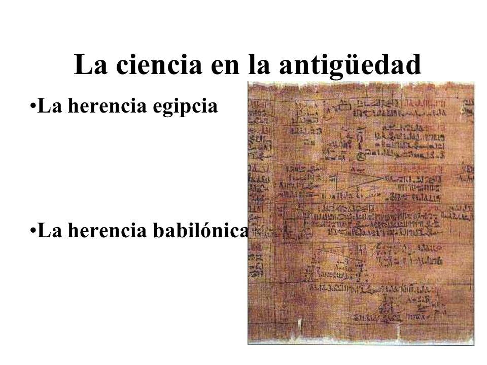 La ciencia en la antigüedad