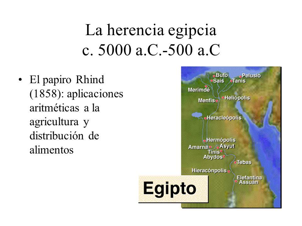 La herencia egipcia c. 5000 a.C.-500 a.C
