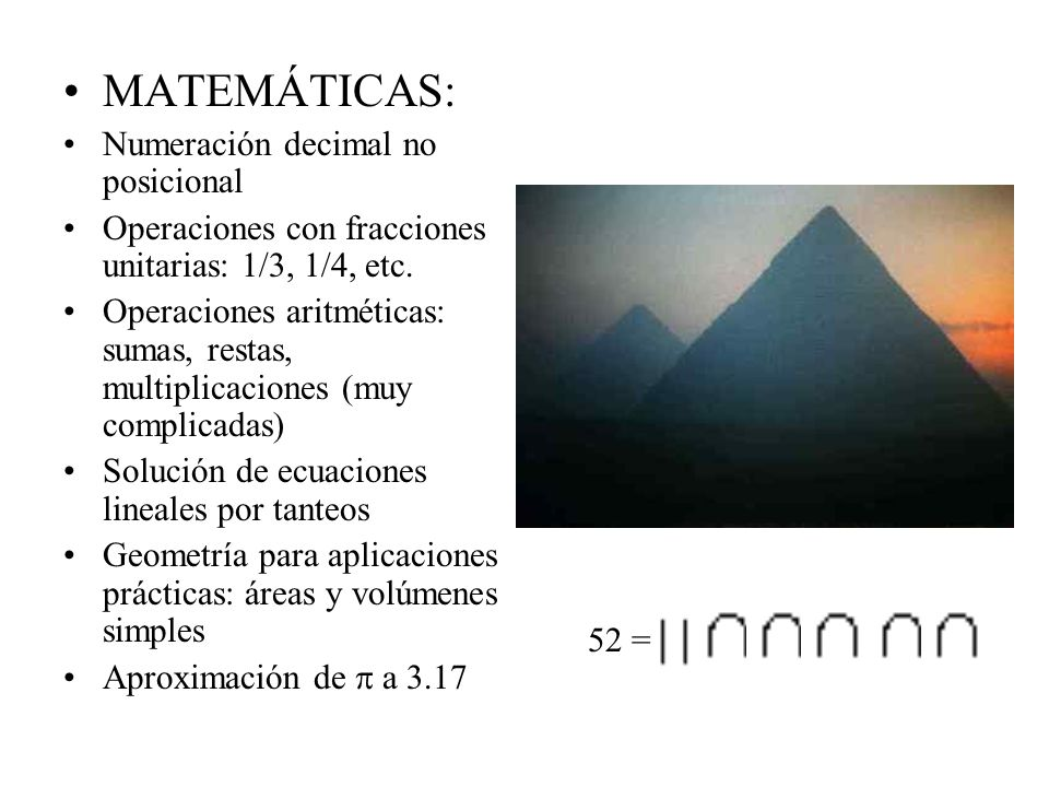 MATEMÁTICAS: Numeración decimal no posicional