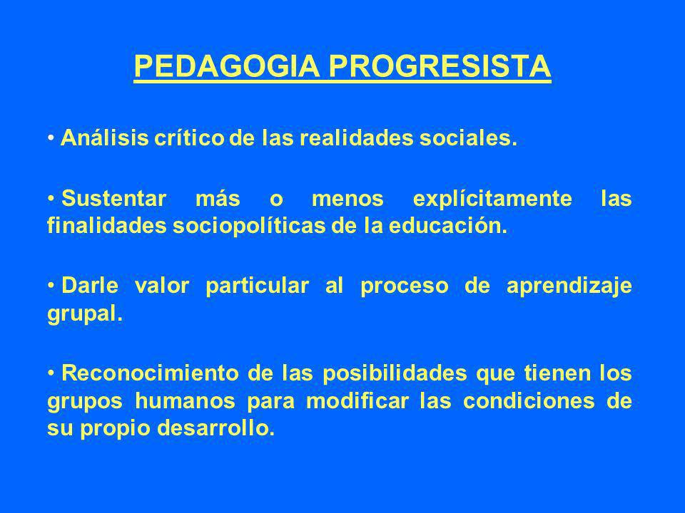 PEDAGOGIA PROGRESISTA