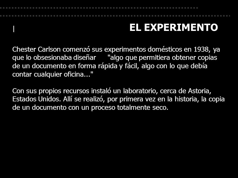 | EL EXPERIMENTO
