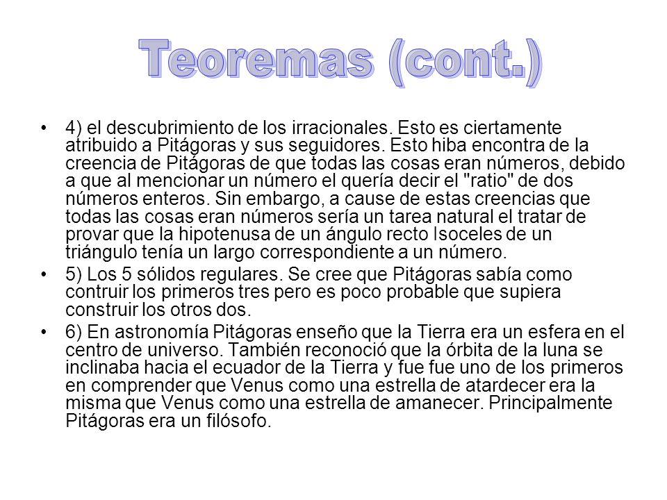 Teoremas (cont.)