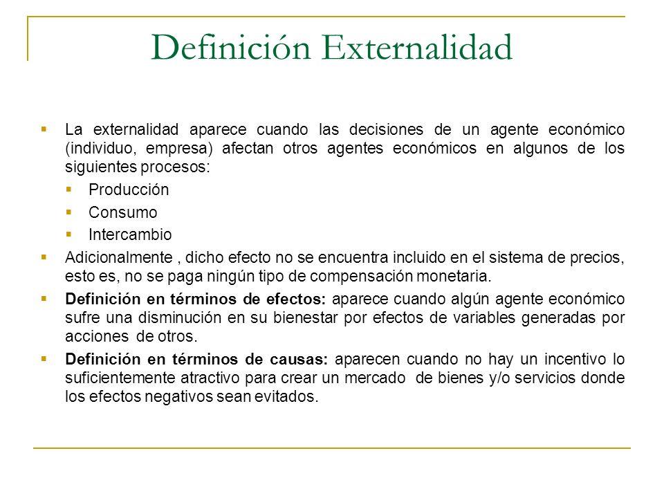 Definición Externalidad