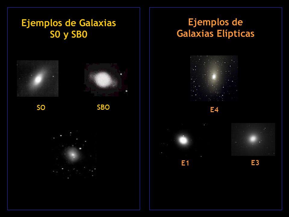 Ejemplos de Galaxias S0 y SB0 Ejemplos de Galaxias Elípticas
