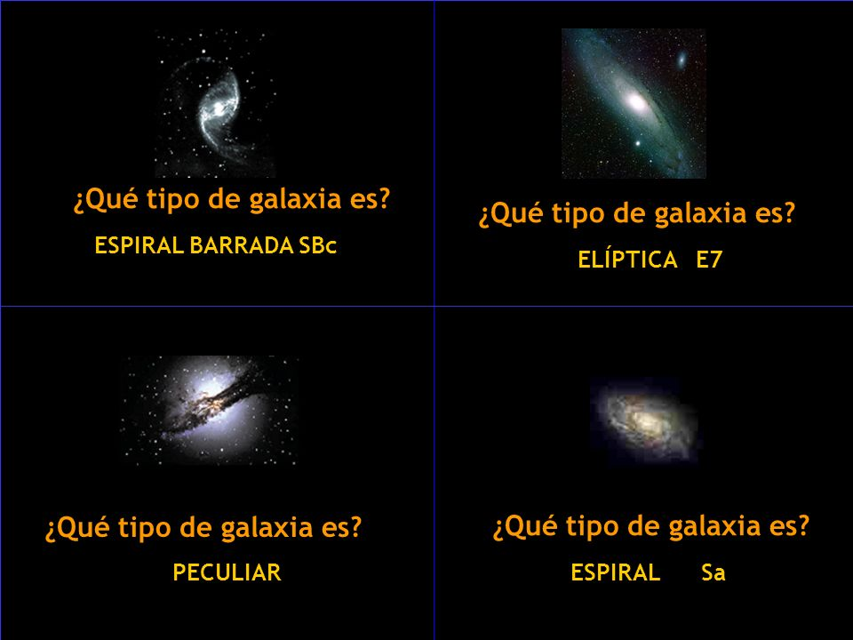 ¿Qué tipo de galaxia es ¿Qué tipo de galaxia es