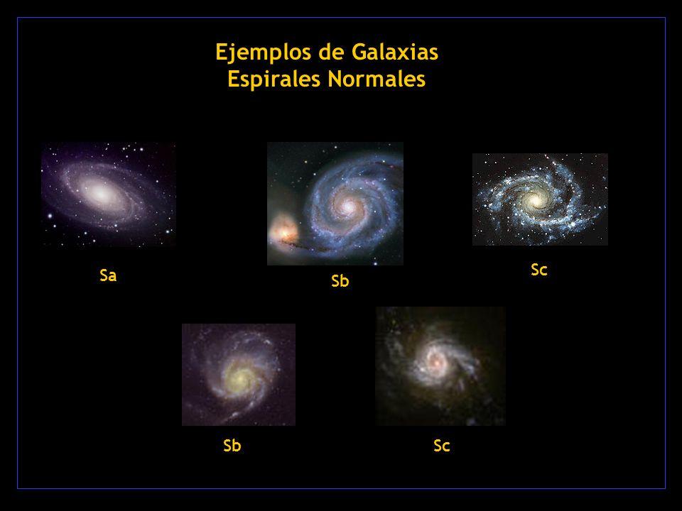 Ejemplos de Galaxias Espirales Normales