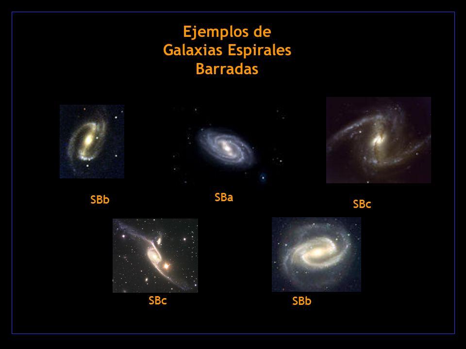 Ejemplos de Galaxias Espirales Barradas