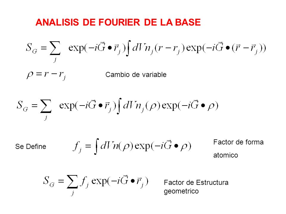 ANALISIS DE FOURIER DE LA BASE