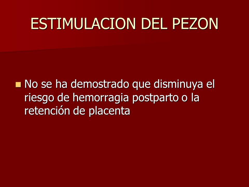 ESTIMULACION DEL PEZON
