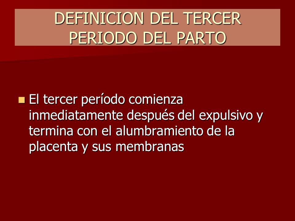 DEFINICION DEL TERCER PERIODO DEL PARTO