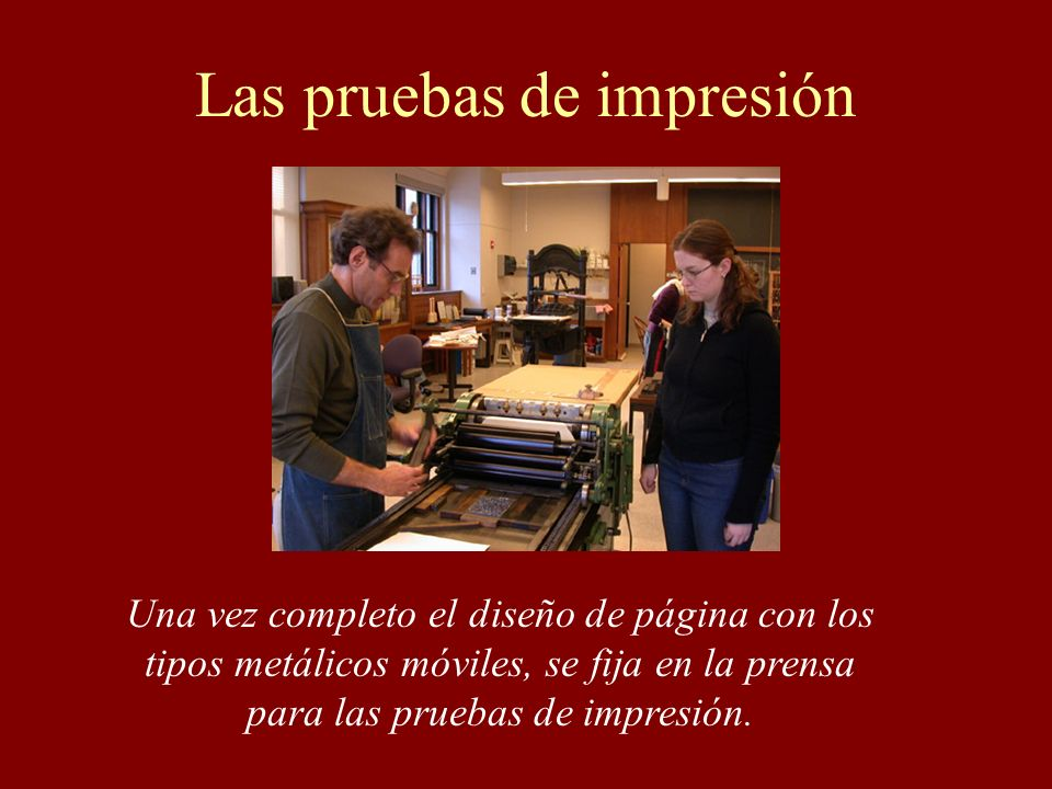 Las pruebas de impresión