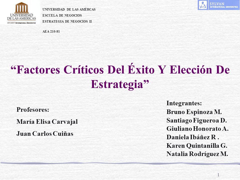 Factores Críticos Del Éxito Y Elección De Estrategia
