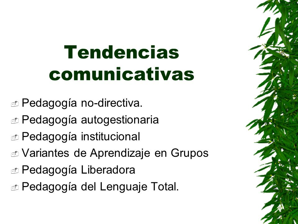 Tendencias comunicativas