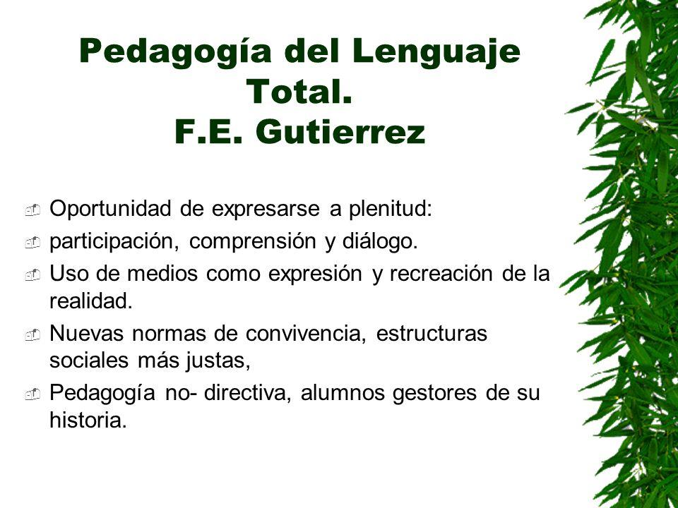 Pedagogía del Lenguaje Total. F.E. Gutierrez