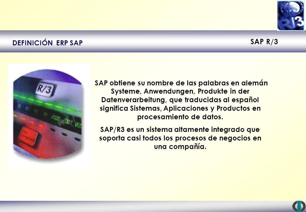 DEFINICIÓN ERP SAP