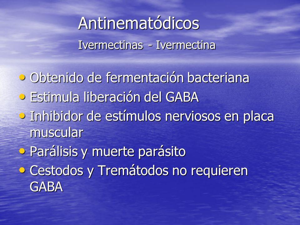 Antinematódicos Ivermectinas - Ivermectina