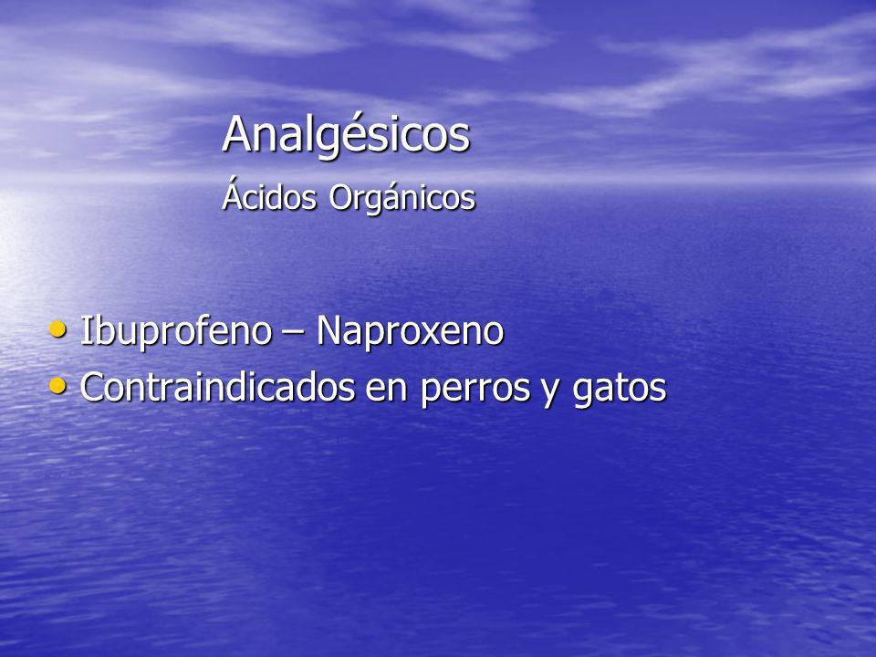 Analgésicos Ácidos Orgánicos
