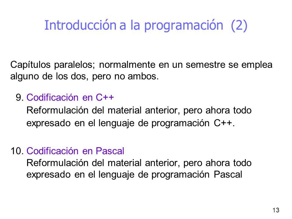 Introducción a la programación (2)