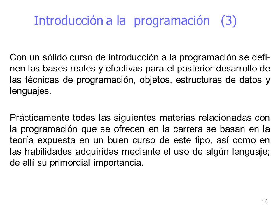 Introducción a la programación (3)