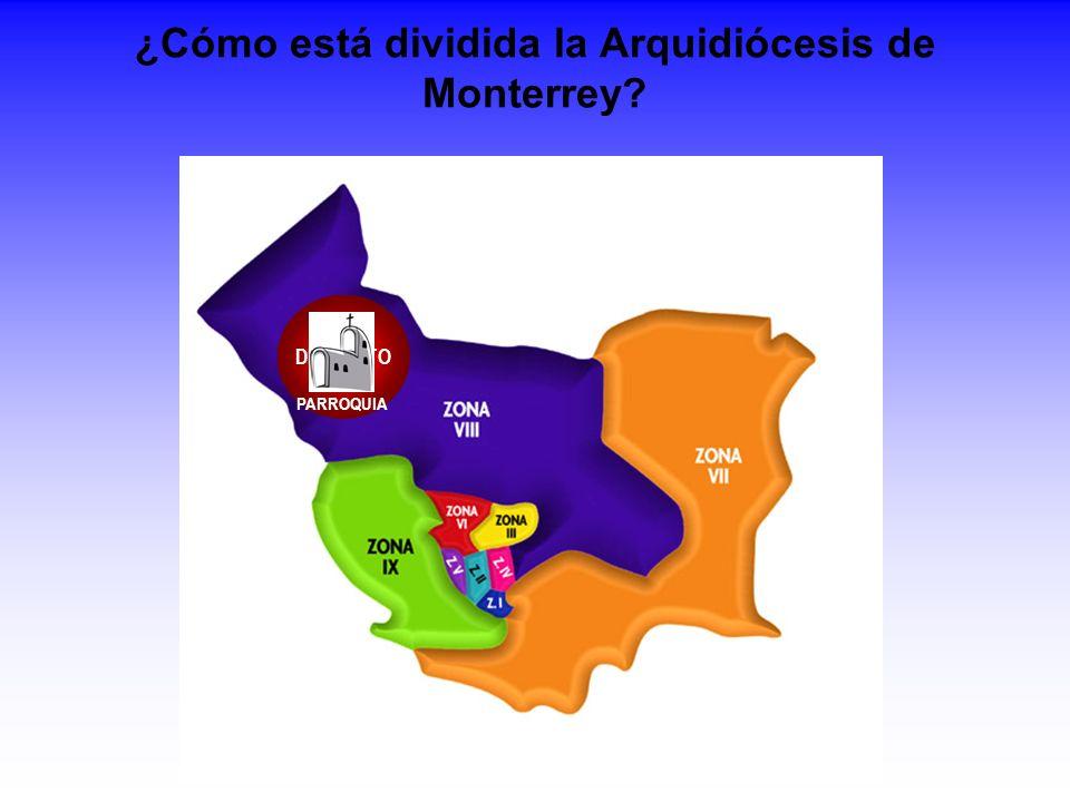 ¿Cómo está dividida la Arquidiócesis de Monterrey
