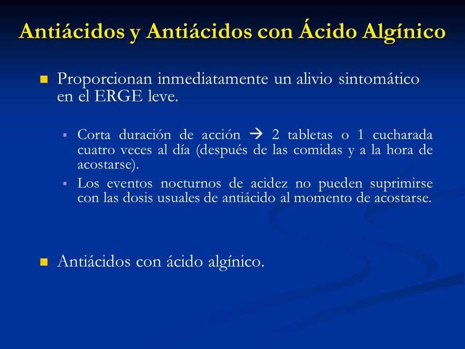 Antiácidos y Antiácidos con Ácido Algínico