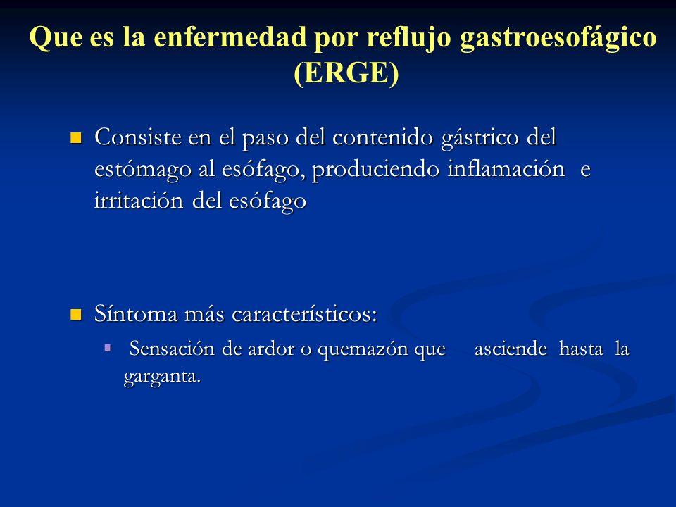 Que es la enfermedad por reflujo gastroesofágico