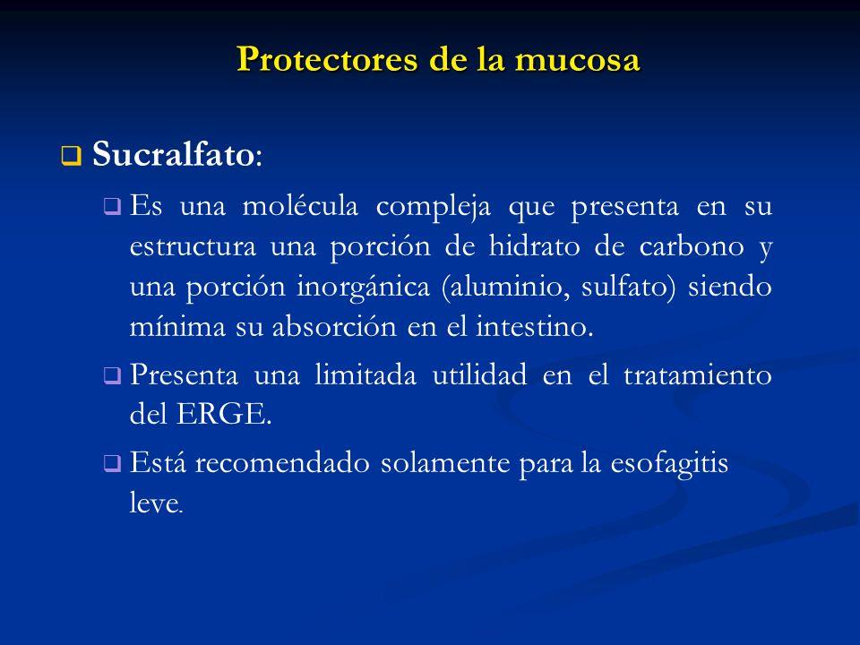 Protectores de la mucosa
