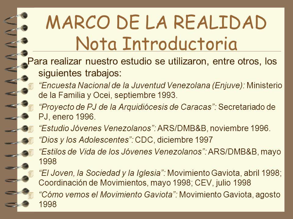 MARCO DE LA REALIDAD Nota Introductoria