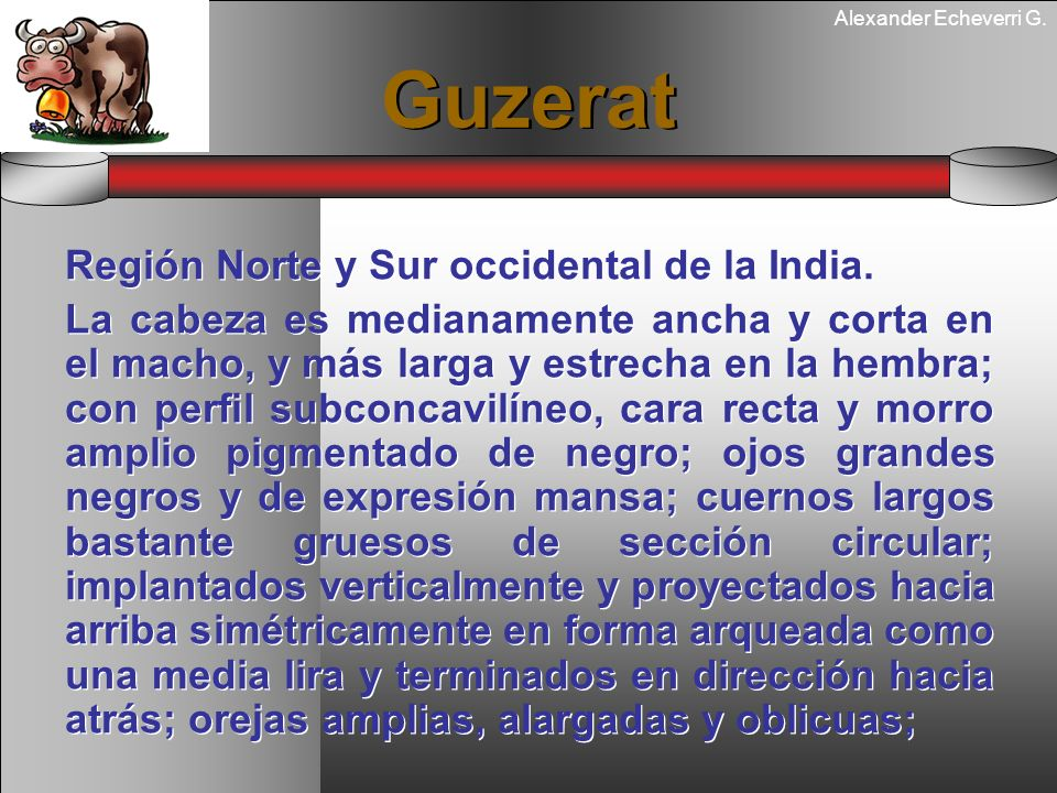 Guzerat Región Norte y Sur occidental de la India.