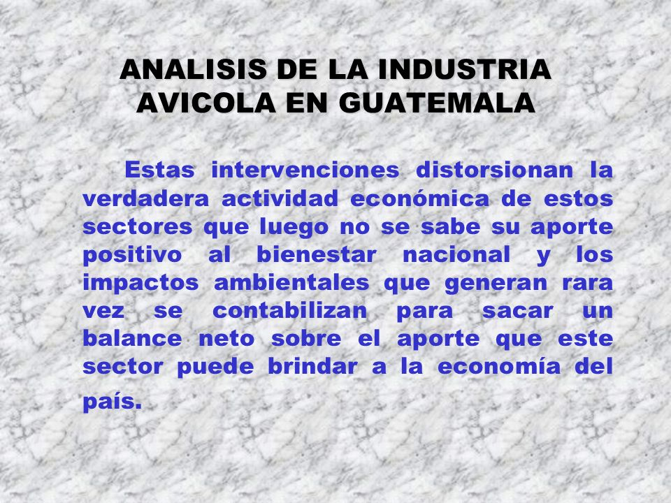 ANALISIS DE LA INDUSTRIA AVICOLA EN GUATEMALA
