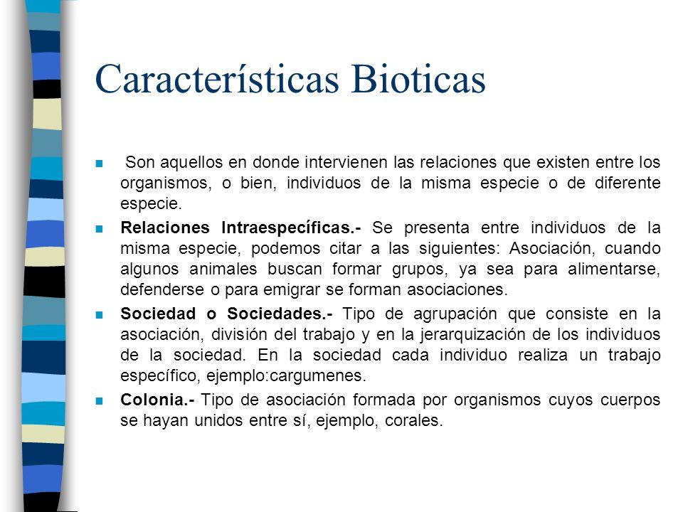 Características Bioticas