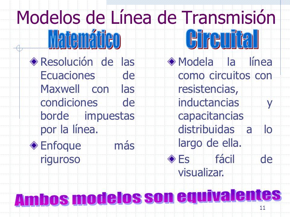 Modelos de Línea de Transmisión