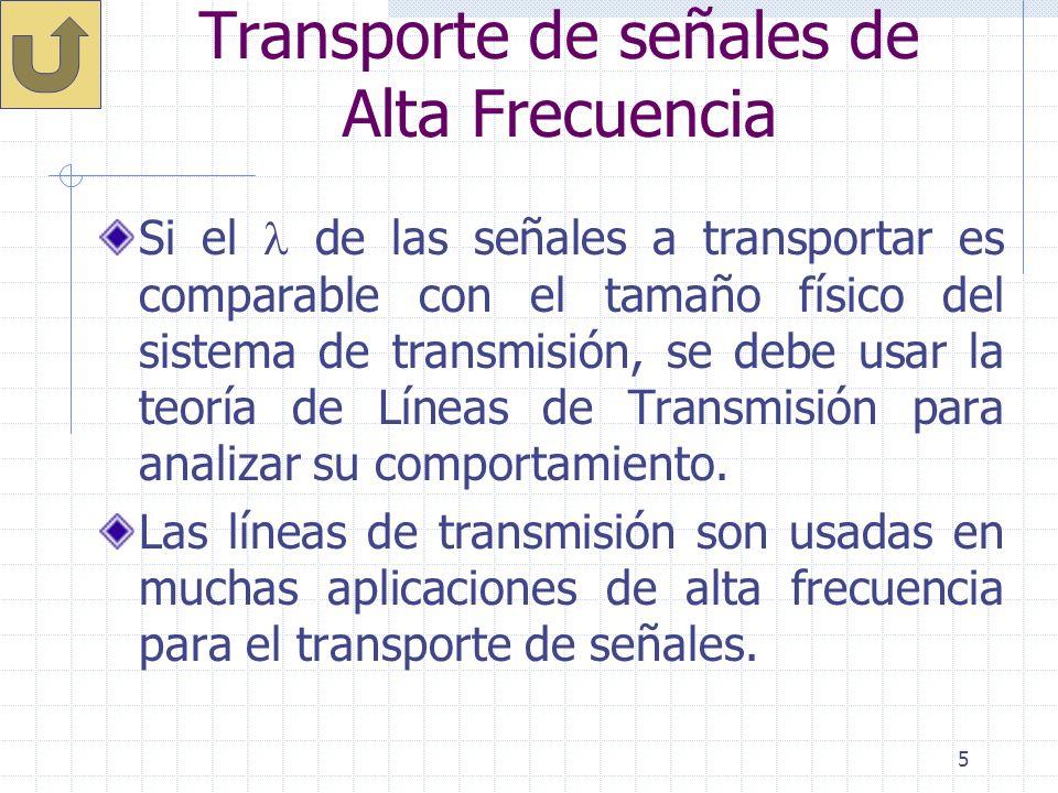 Transporte de señales de Alta Frecuencia