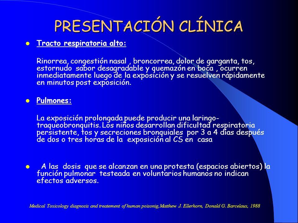 PRESENTACIÓN CLÍNICA Tracto respiratoria alto: