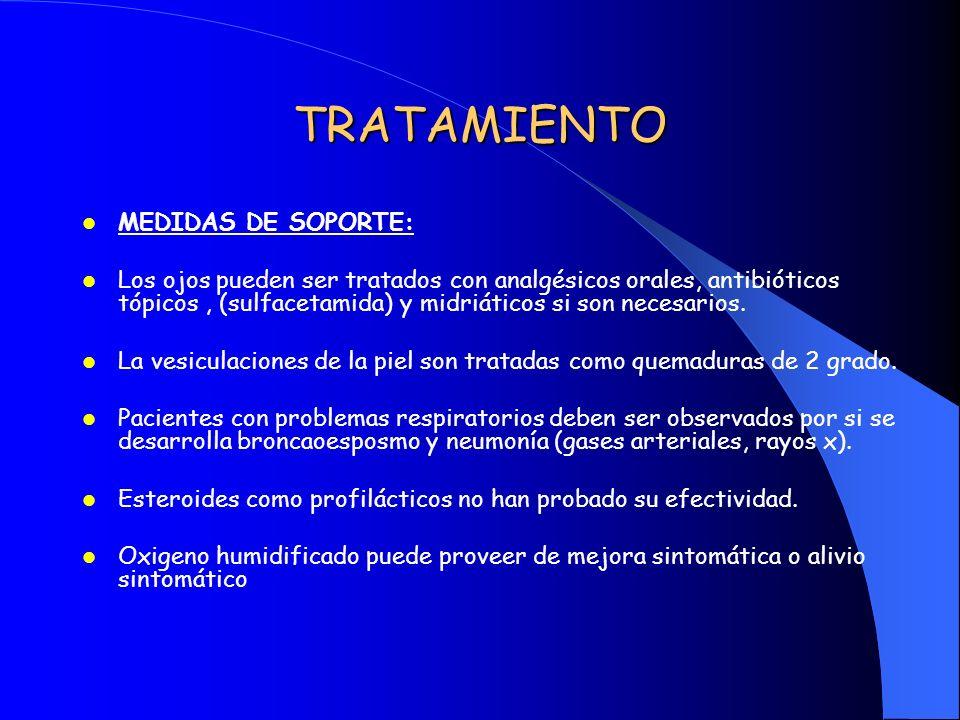 TRATAMIENTO MEDIDAS DE SOPORTE: