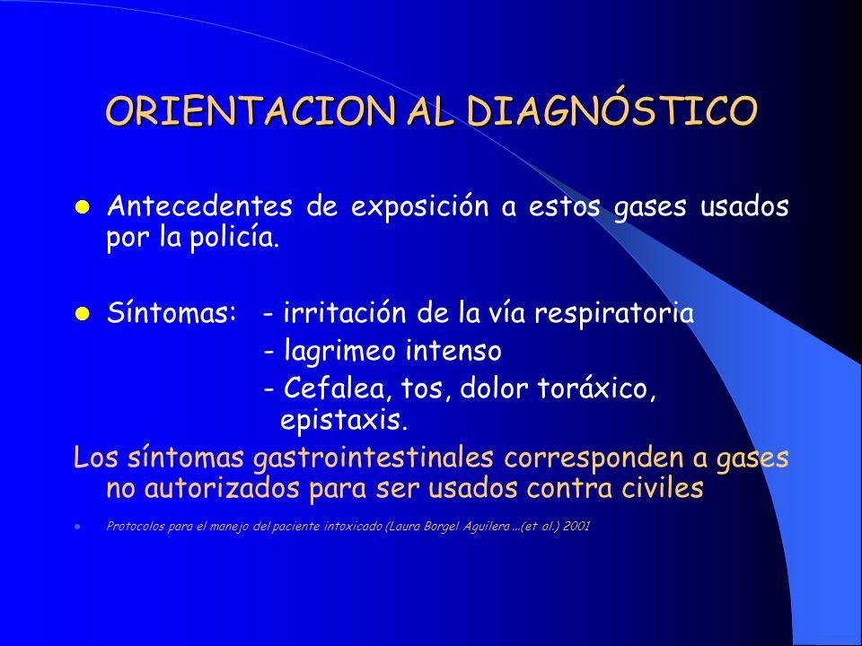 ORIENTACION AL DIAGNÓSTICO