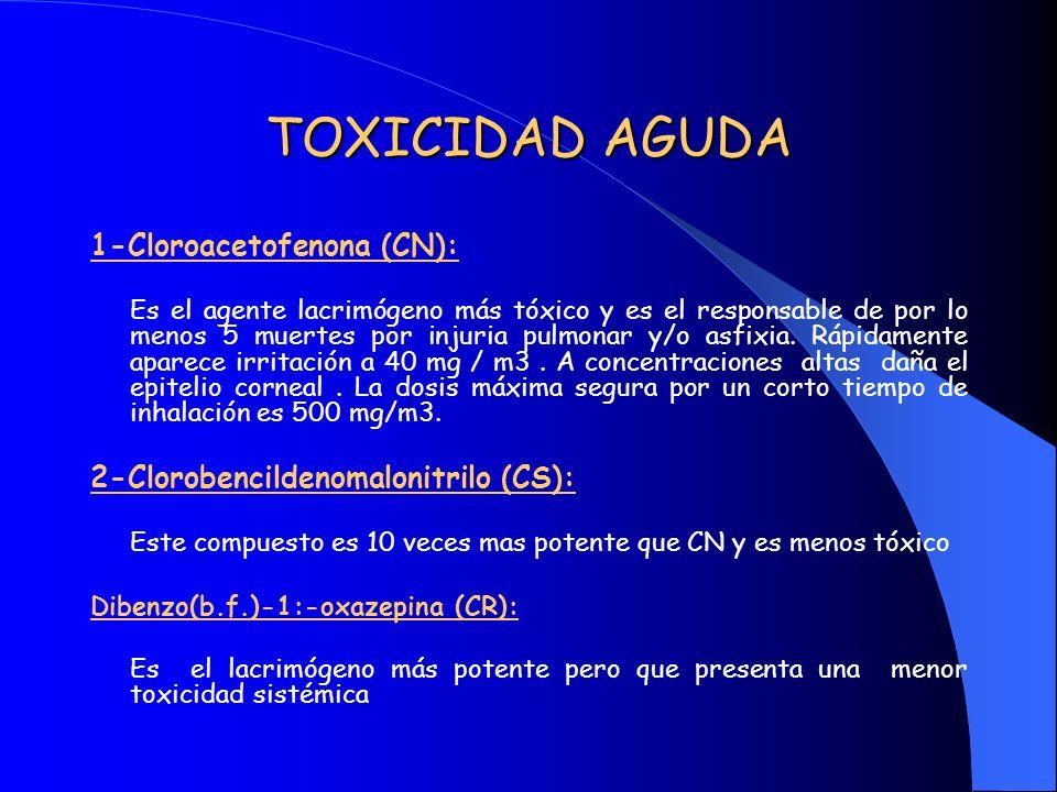 TOXICIDAD AGUDA 1-Cloroacetofenona (CN):