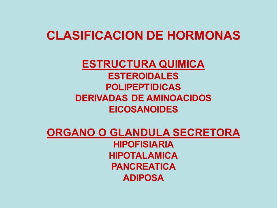 CLASIFICACION DE HORMONAS