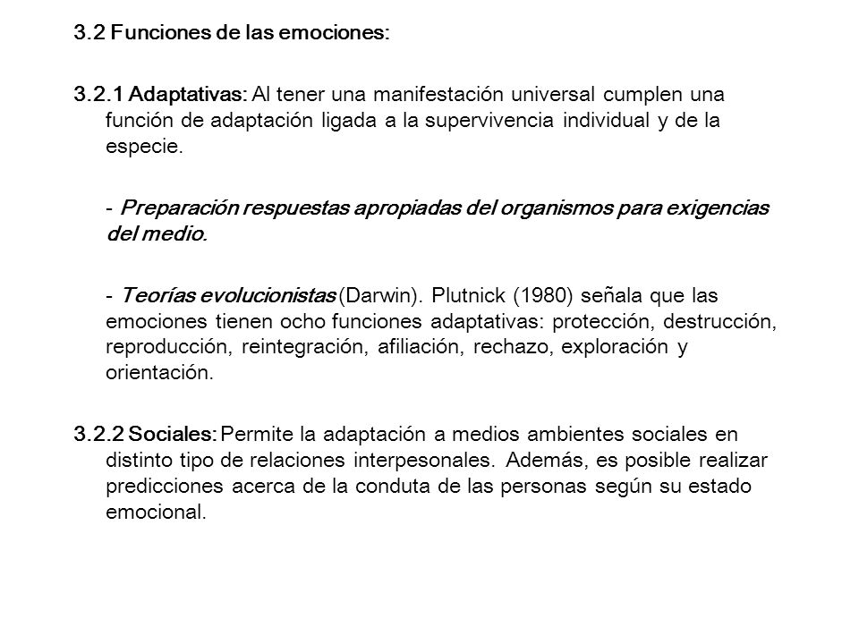 3.2 Funciones de las emociones: