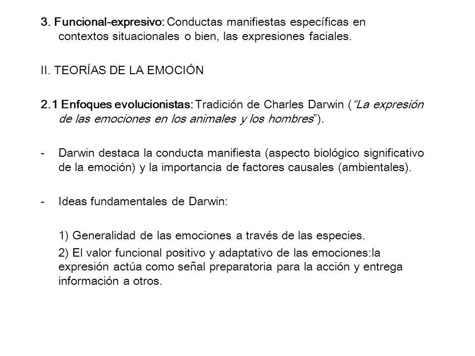 3. Funcional-expresivo: Conductas manifiestas específicas en