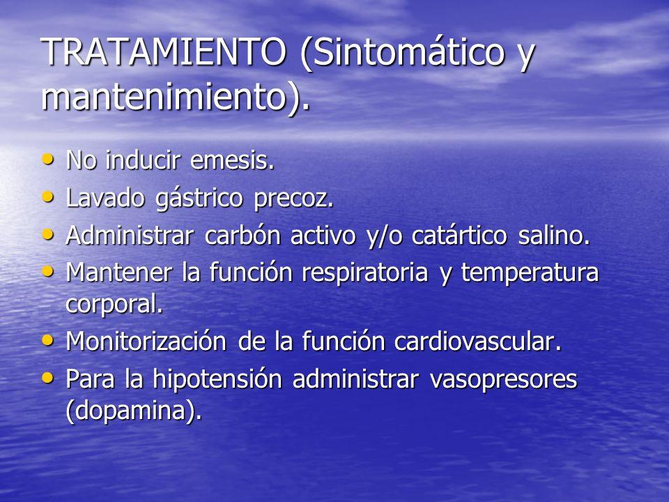 TRATAMIENTO (Sintomático y mantenimiento).