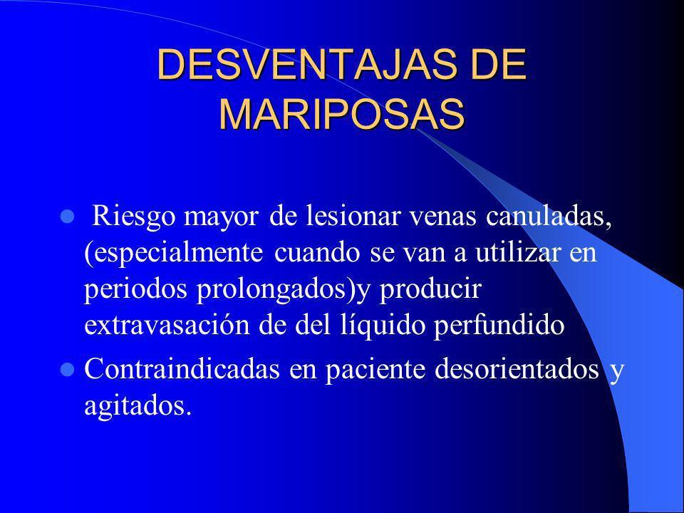 DESVENTAJAS DE MARIPOSAS
