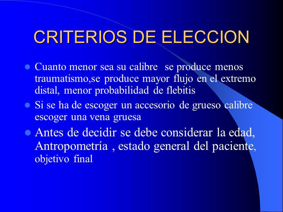 CRITERIOS DE ELECCION