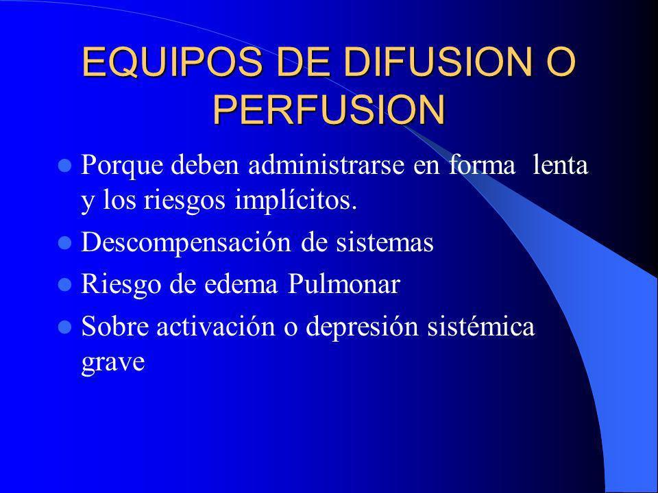 EQUIPOS DE DIFUSION O PERFUSION