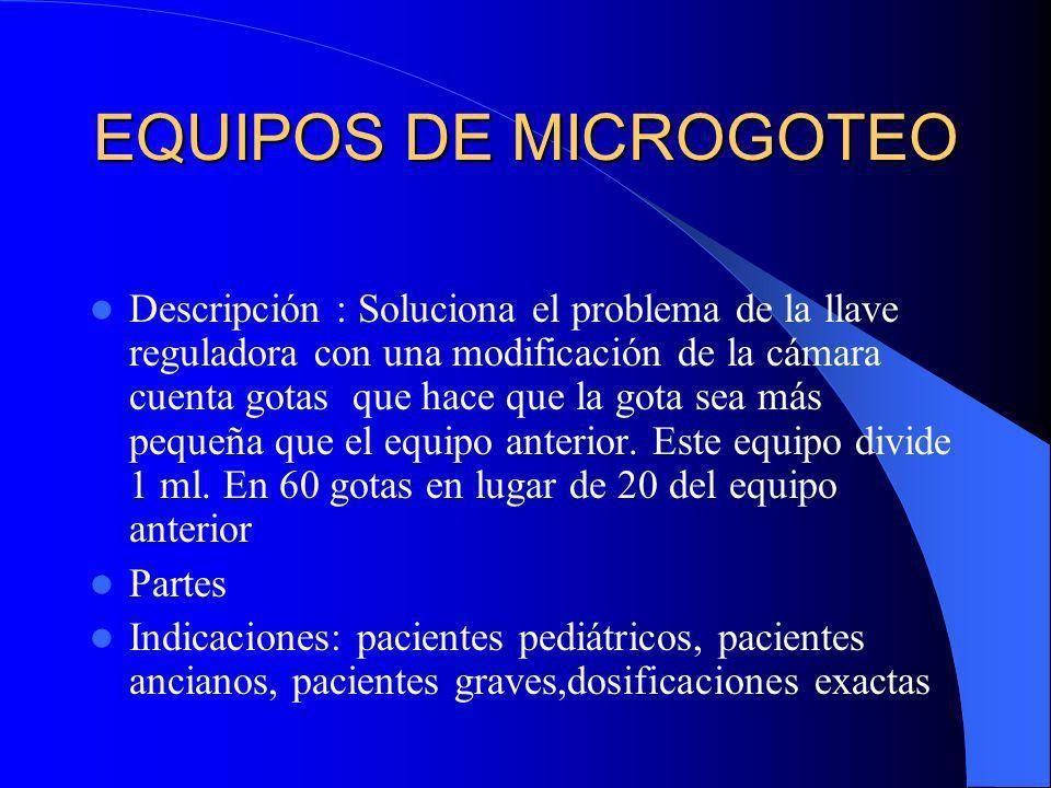EQUIPOS DE MICROGOTEO