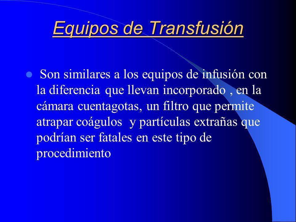 Equipos de Transfusión