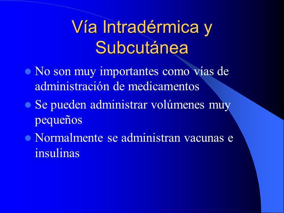 Vía Intradérmica y Subcutánea
