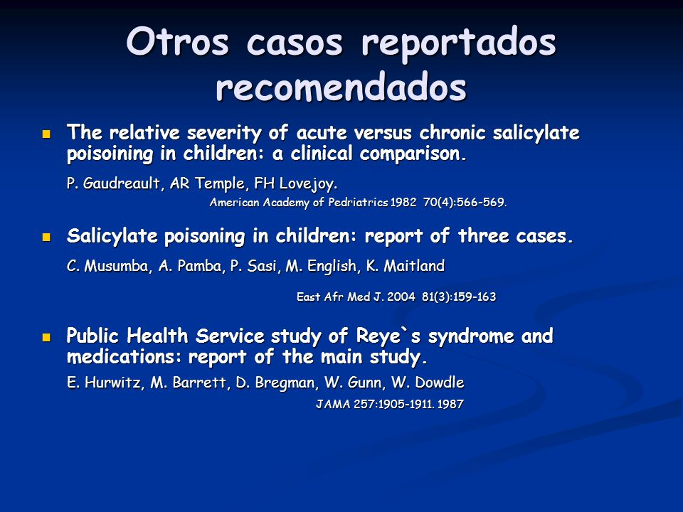 Otros casos reportados recomendados